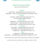 Whats On Every Week UPDATED MAR 2019